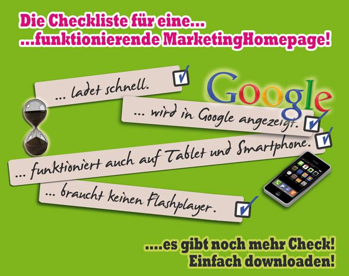 Checkliste für eine funktionierende Marketing-Homepage - Technische Voraussetzungen