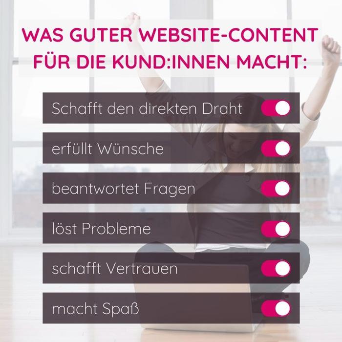 Was guter Website-Content für die Kund:innen macht